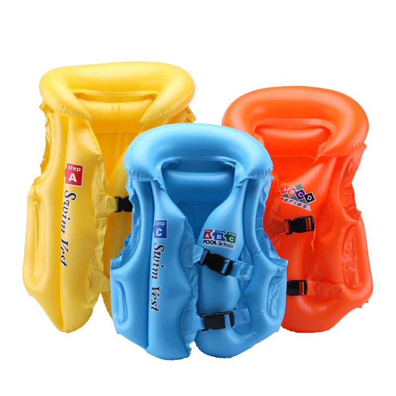 Trẻ em của cuộc sống jacket bơi vest inflatable cậu bé con bé inflatable nổi vest người mới bắt đầu bơi thiết bị