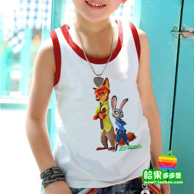 Mad zoo animals Zhudi Nikon children's sweater cotton sweater vest 103 Summer