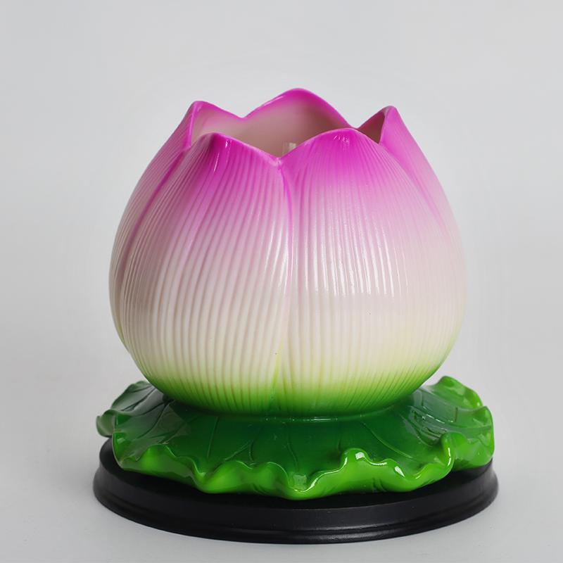 Gốm Lotus Lights Changming Lights Fotang Tôn Giáo cho Phật Đèn Nến Nguồn Cung Cấp Dụng Cụ Bơ Đèn Phật Trang Trí