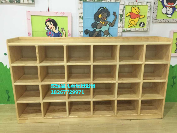 Special Shoe Cabinet Kindergarten Early Teaching Wooden Shoes Rack Solid  Wood Wood Cabinet Clean Shoes Cabinet