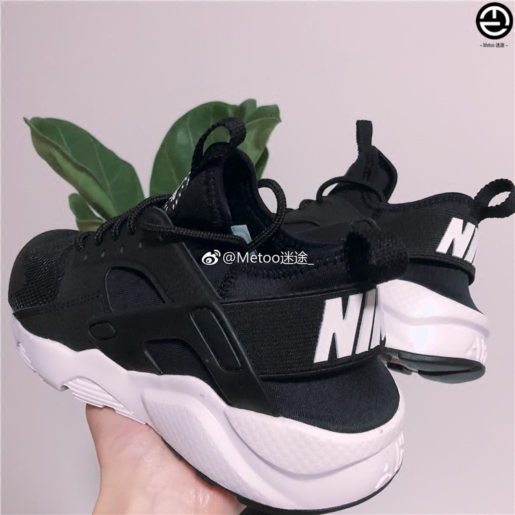 hot sales ee997 67266 ... coupon code for metoo lost nike air huarache couple black and white  oreo wallace 847569 002