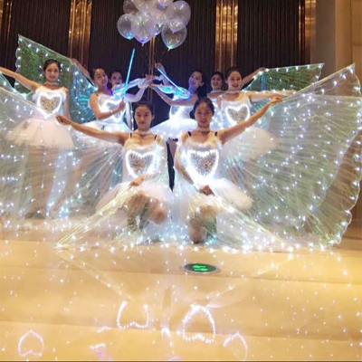 Children's performance clothing shawl led butterfly dance belly dance Cape gold wings performance ballet fluorescent Ballet