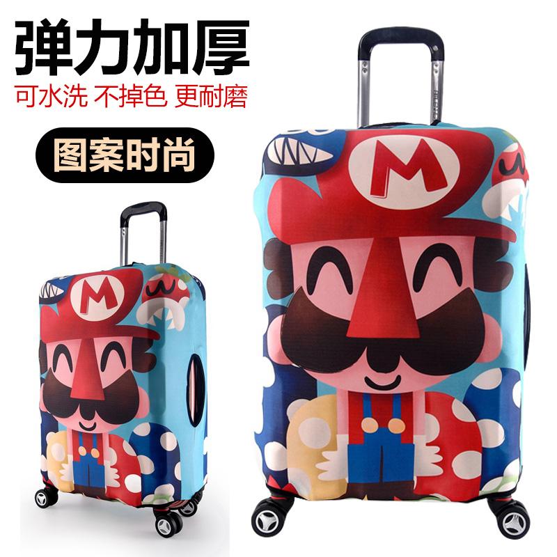 Hành lý bìa hành lý bìa trường hợp xe đẩy du lịch bụi che bag protector 22 26 28 inch dày chịu mài mòn