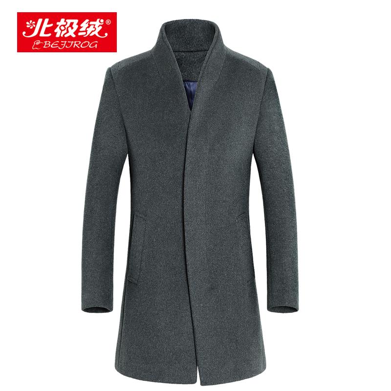 2015秋冬韩版呢子大衣修身显瘦双排扣中长款连帽大毛领毛呢外套女