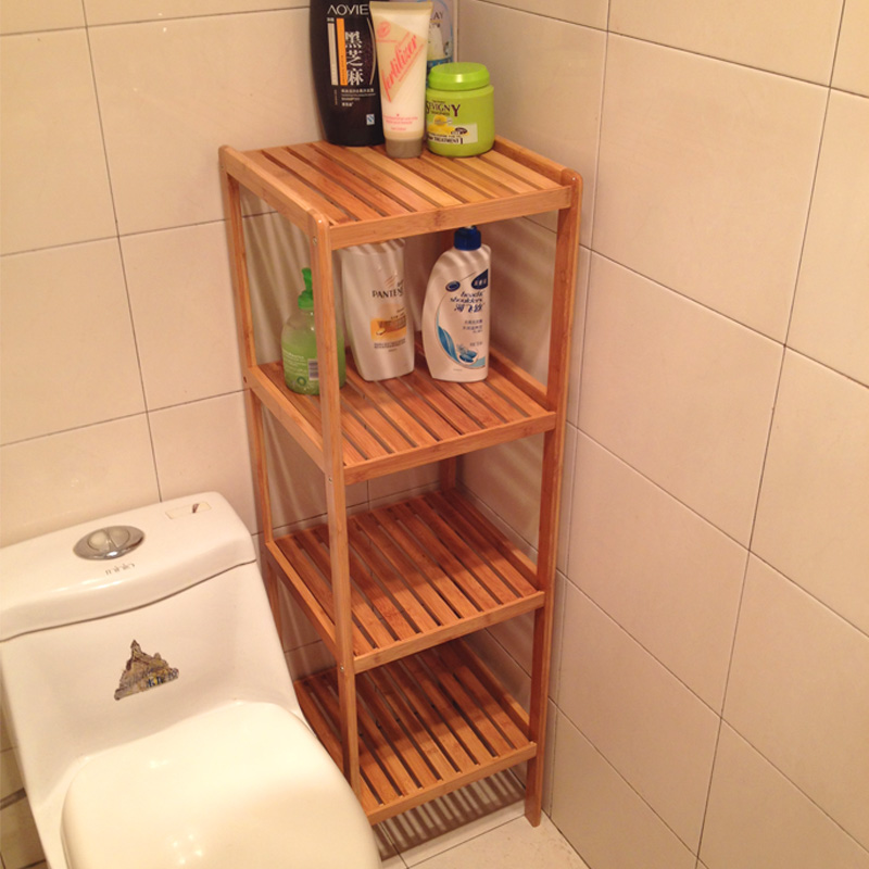 Bedroom Racks Wooden Shelves Multi Level Living Room Floor Bathroom Storage  Kitchen Storage Rack Bamboo Simple ...