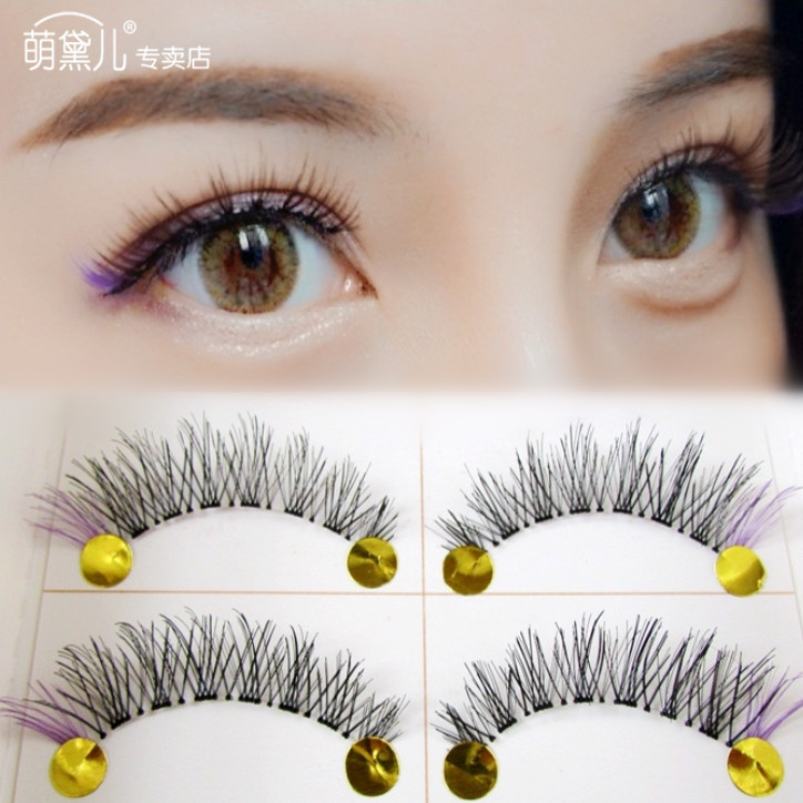 Usd 1221 Japanese Handmade Black Eyes Purple False Eyelashes Cross