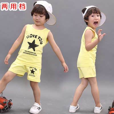 Children's clothing wholesale factory direct dual-use file baby vest suit split file five-pointed star simple children's suit
