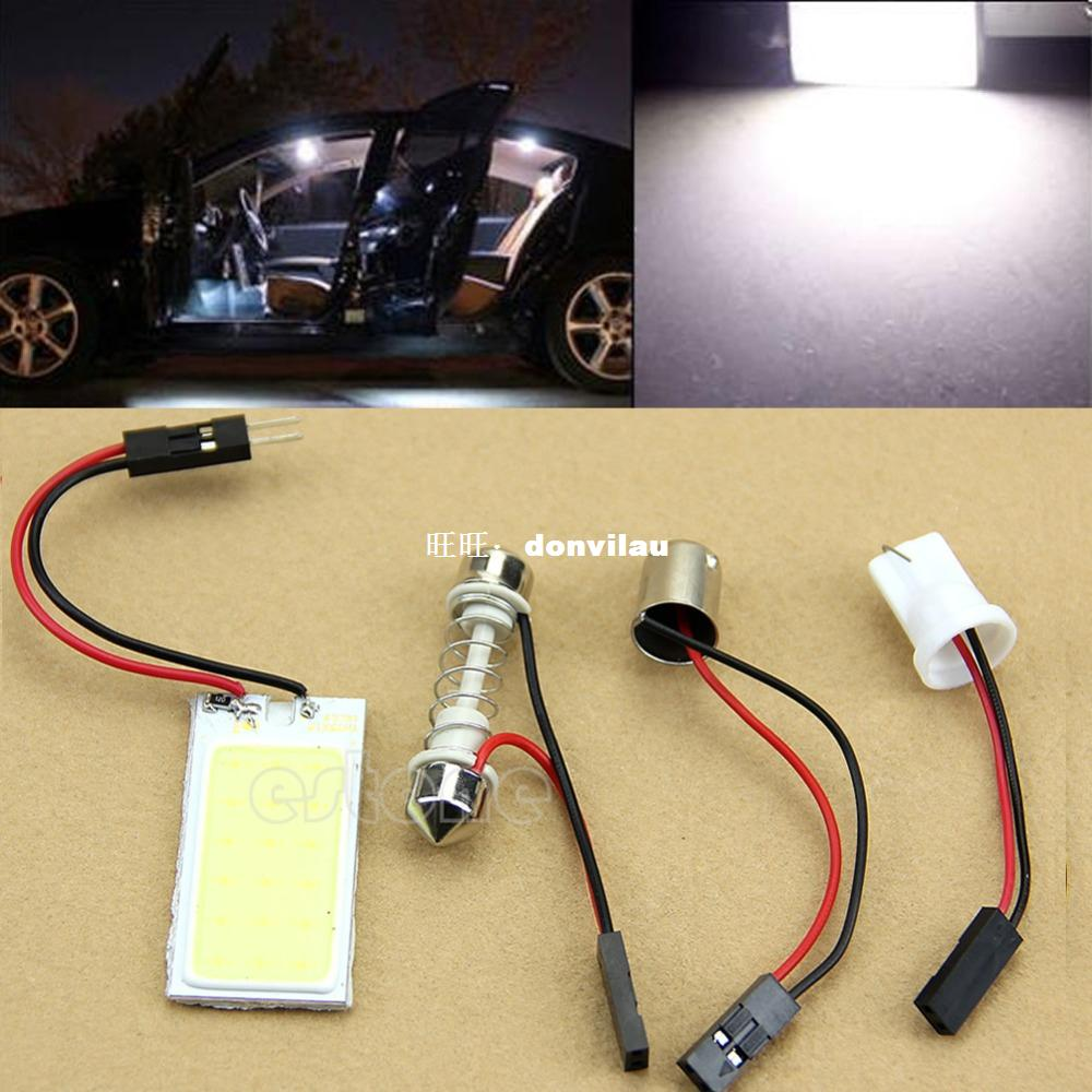 12V White 48 SMD Car Interior COB LED panel T10 COB chip Fes
