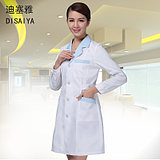 White coat long and short sleeve doctor female custom logo printing nurse wear pharmacy drugstore overalls white coat medical