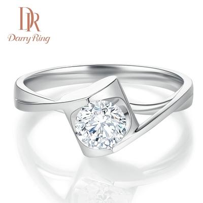 DR DarryRing求婚結婚鉆戒女戒50分30分天使之吻正品鉆石戒指