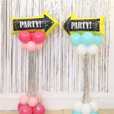 生日满月百天派对布置铝膜气球立柱箭头派对指路牌路引门迎柱子