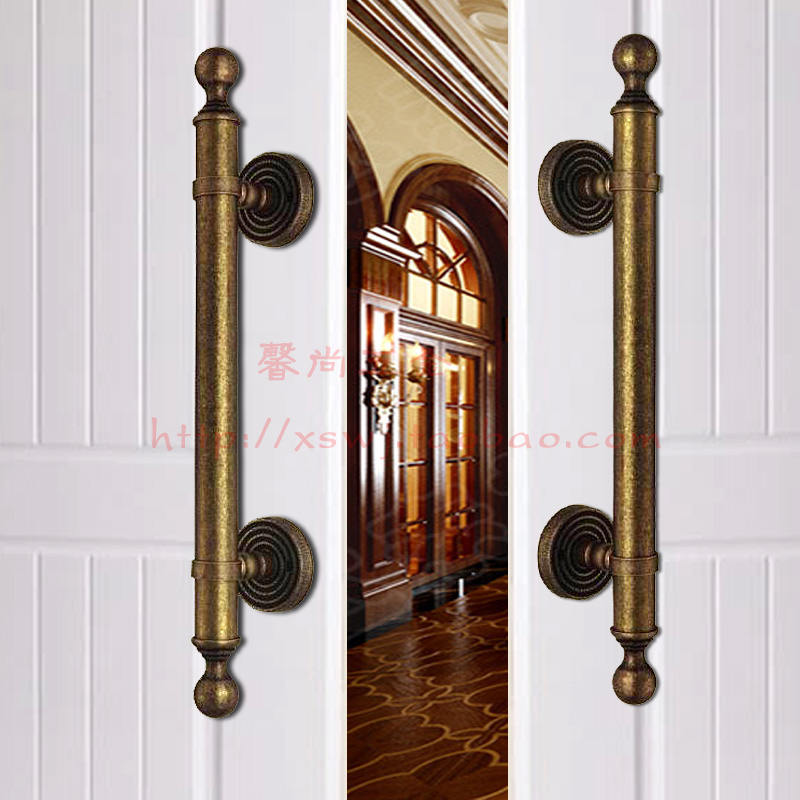 Pure Copper Chinese Door Handle European Style Gl Home Antique