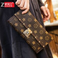 Wallet female long section thin 2018 new Japan and South Korea ultra-thin European and American personality Korean version of the retro simple hand clutch