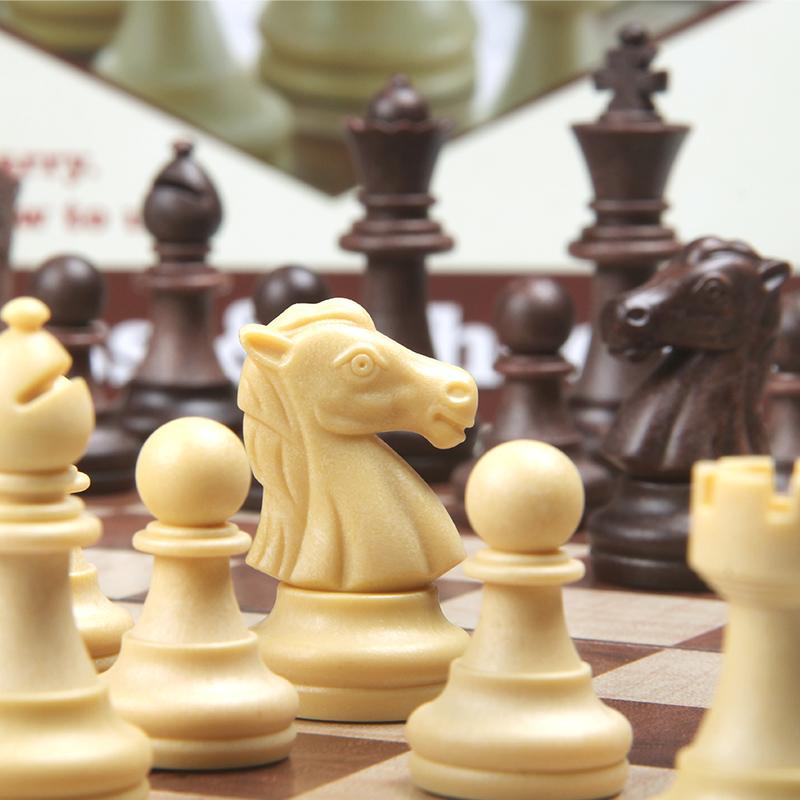 UB друг государственный среда дерево система шахматы установите западный шашки 64 круглый угол магнит сложить шахматная доска кусок