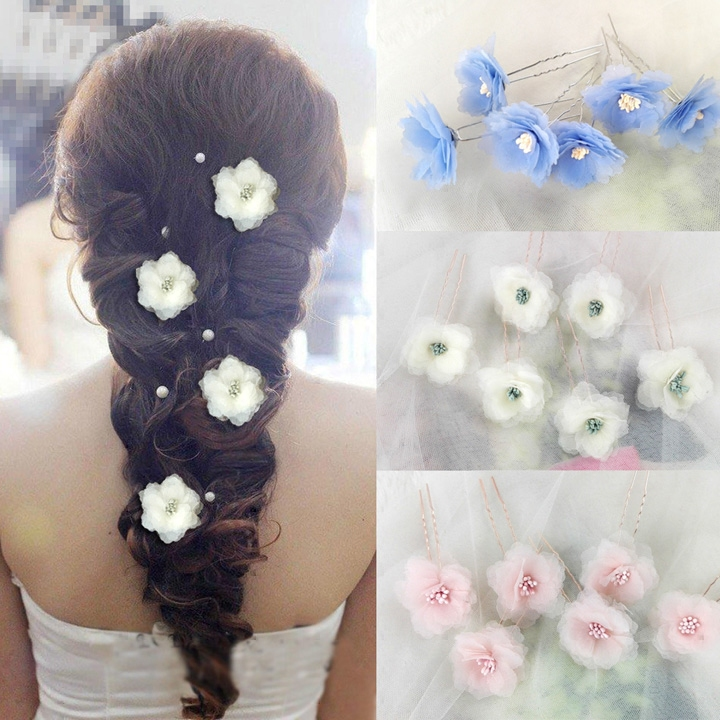 f358ee972d Beautiful Korean white flower hairpin hair accessories wedding flower  wedding accessories hair pin bridal headdress