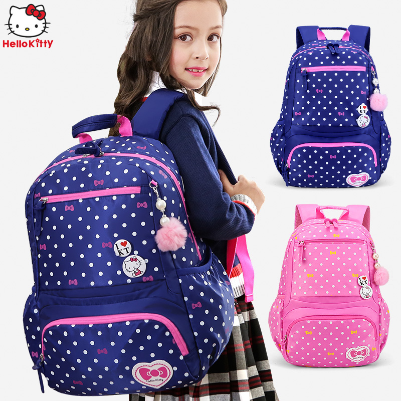 408f358f1a Primary school students schoolbag girls 1-3-6 grade Hello Kitty care Ridge  reduction Leisure Travel Backpack children s backpack