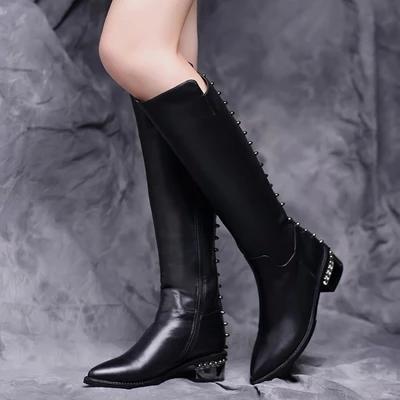 2014秋冬新款女靴 森达女鞋专柜正品 牛皮矮靴裸靴女短靴子4NF43