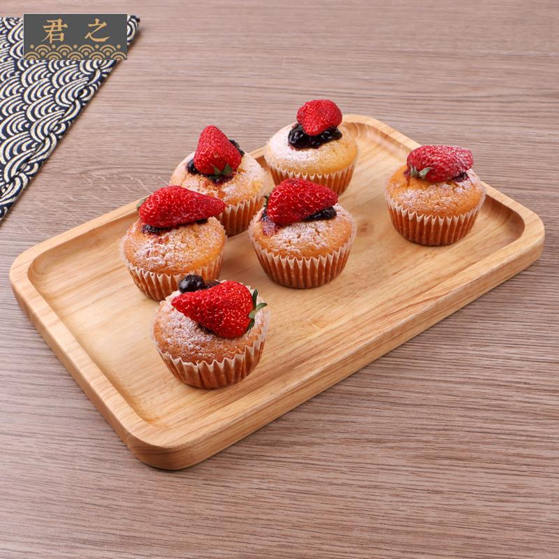 Hộ gia đình rắn tấm gỗ Hình Chữ Nhật lớn khay gỗ trái cây Bằng Gỗ tấm Nhật Bản-phong cách pastry bánh mooncake tấm
