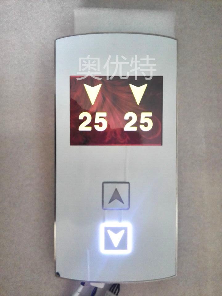 otis电梯配件西子奥的斯西奥整套外呼面板4.3寸黑屏外呼液晶显示