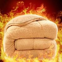 Зимний Студенческая овечья шкура удерживающий тепло утепленный хлопок Одеяло ядро один Человек двойной овечья шерсть замша одеяло спец. предложение