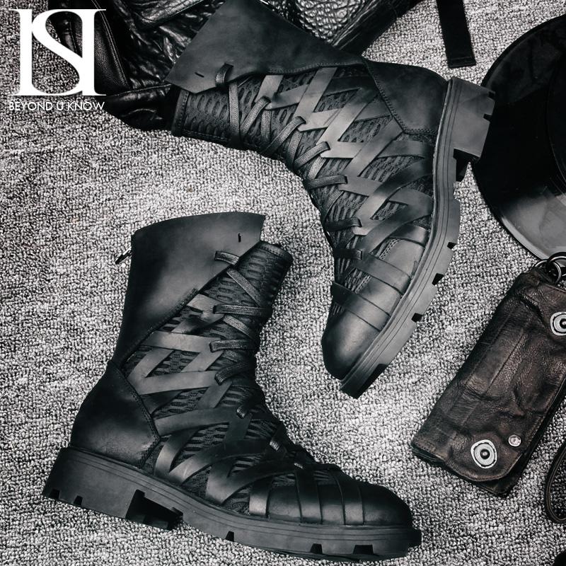 Naser Tide thương hiệu Martin khởi động của nam giới khởi động của nam giới khởi động thủy triều khởi động mùa hè xe máy boots nam giúp đỡ cao Martin giày bốt