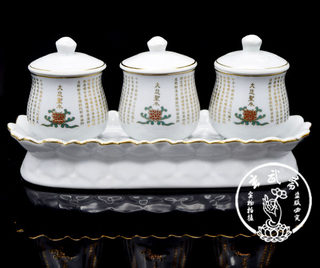 Dedicated to the Buddha white continuous water purification cup holy water cup three sets of sacred and holy water cup lotus cup water supply cup