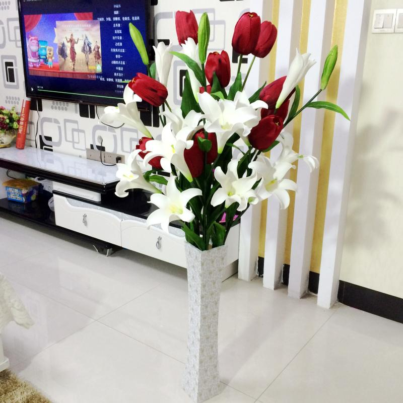 Perfume lily simulation bouquet living room floor decoration flower ...