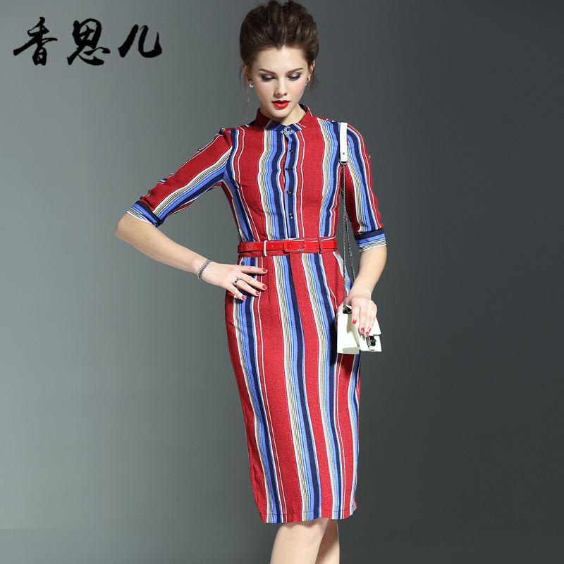 新款正品香旎思家居服纯棉条纹长袖长裤女士睡衣37132圆领红色