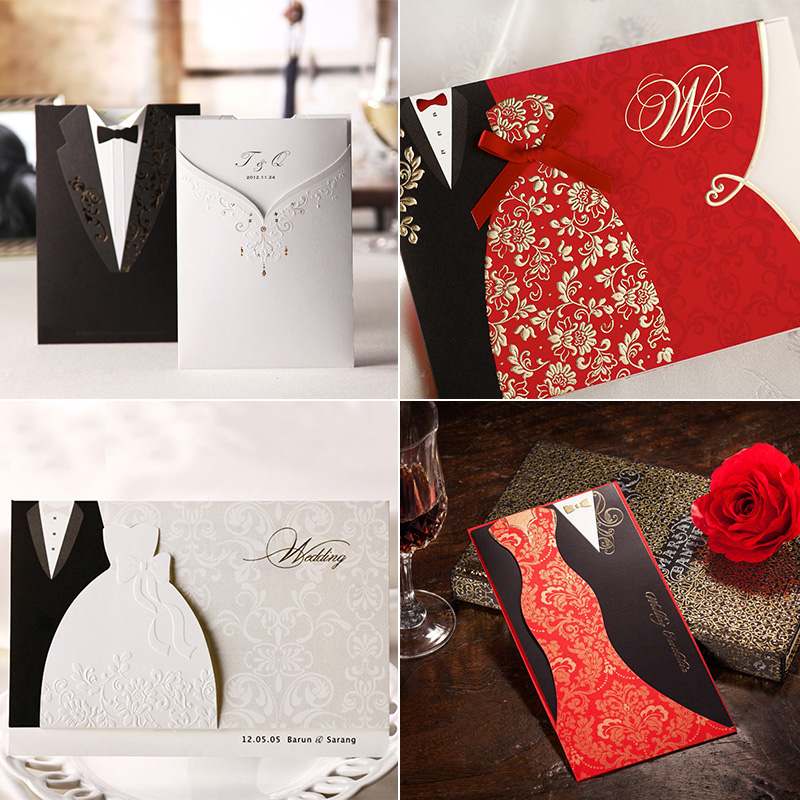 USD 4.62] Only think the United States wedding invitations Western ...