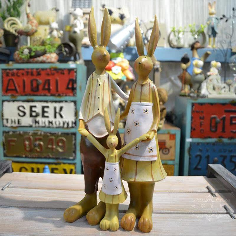 一家三口大象摆件创意家居装饰品电视柜客厅酒柜办公室书房工艺品