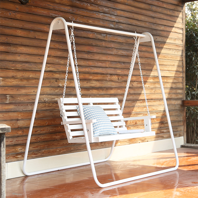 Swing Chair Indoor Adult Outdoor Solid Wood Children Swing Rocking Chair  Courtyard Balcony Leisure Couple Cradle Chair