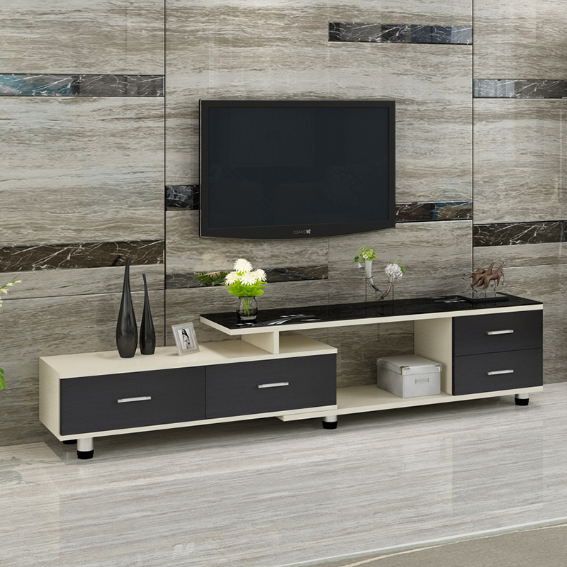 Tv Cabinet Coffee Table Tempered Gl Modern Simple Telescopic Combination Film