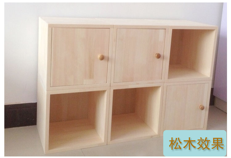 Special solid wood free combination bookcase pine bookcase cabinet storage storage cabinet rack simple box small grid