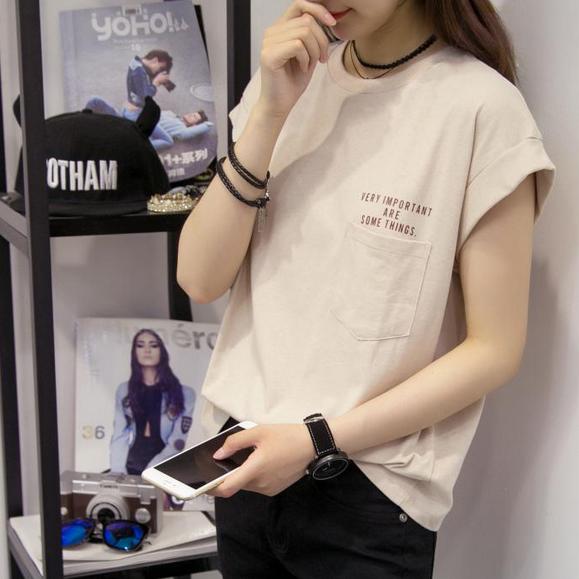 夏款女装后背交叉带打底衫女上衣韩版性感露背显瘦V领短袖T恤潮