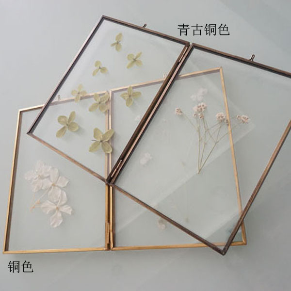 USD 21.28] Vintage copper color glass photo frames art photo frames ...