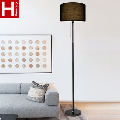 Honglang floor lamp simple and modern living room bedroom bedside Nordic floor table lamp Intelligent remote control vertical floor lamp