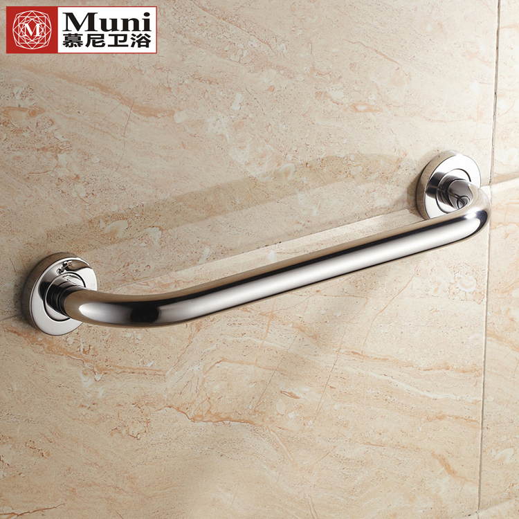 USD 22.57] Toilet handrail 304 stainless steel bathroom bathroom ...