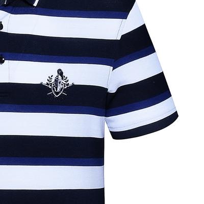 Edenbo Edenberg nam ngắn tay T-Shirt nam mùa hè mới sọc Polo áo sơ mi nam áo sơ mi đáy áo ao polo nam Polo