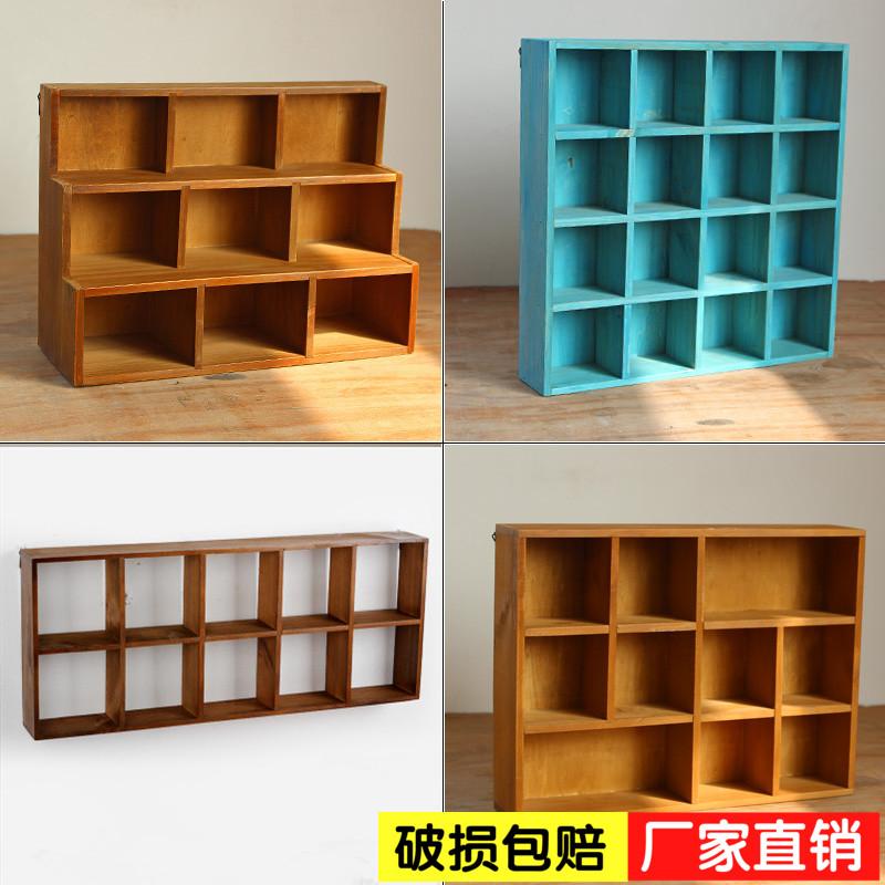 Zakka деревянный рабочий стол сетка классификация мусор в коробку ретро дерево разбираться коробка деревянный метоп дерево настенный
