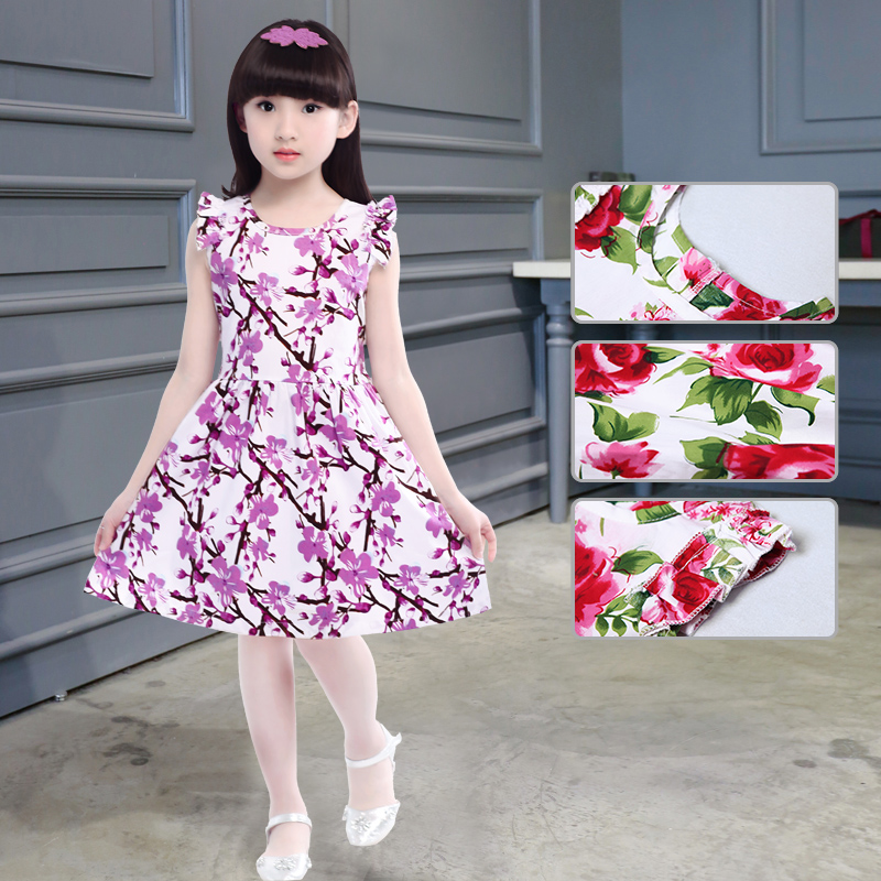 01f5888c7 Summer dress 6 girls dresses cotton 7 children s clothing 8 little girls 9  Summer 12 clothes 5-13 years old 10 summer 11