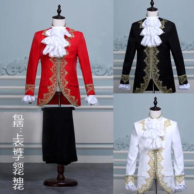 话剧舞台演出服欧洲镶金宫廷表演服装男士影楼主题国王子男装礼服