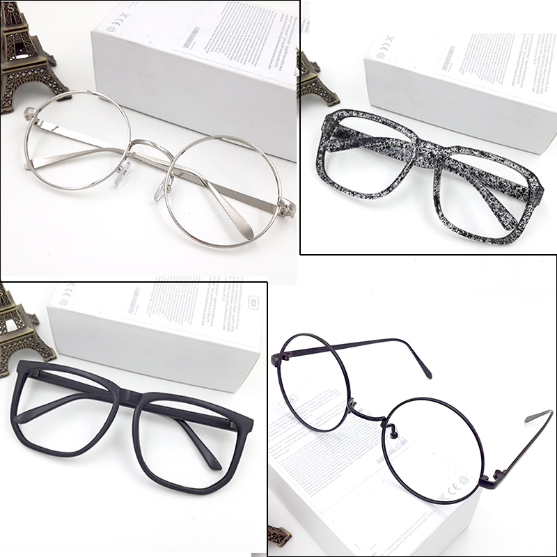 USD 12.99] Glasses frame metal round rim without lens frames men and ...