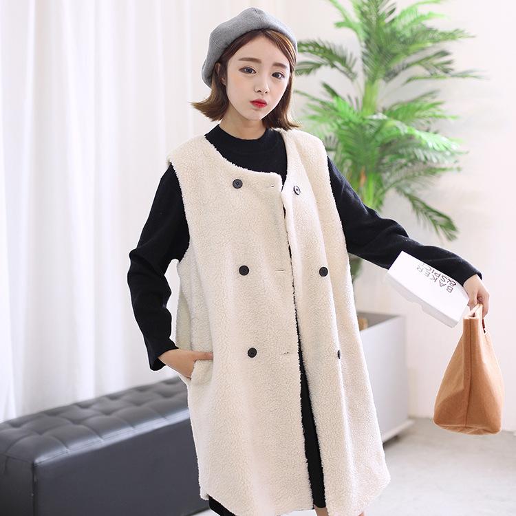 2015冬装新款女中长款韩版修身加长连帽毛领无袖棉衣马甲