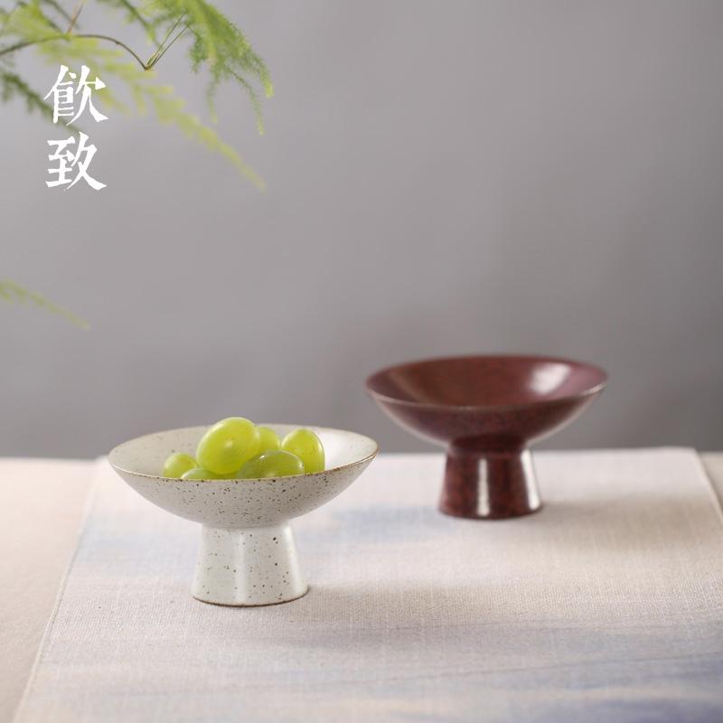 粗陶中式陶瓷手绘盘子餐具壶托壶承茶点碟坚果碟壶托酱料碟茶道