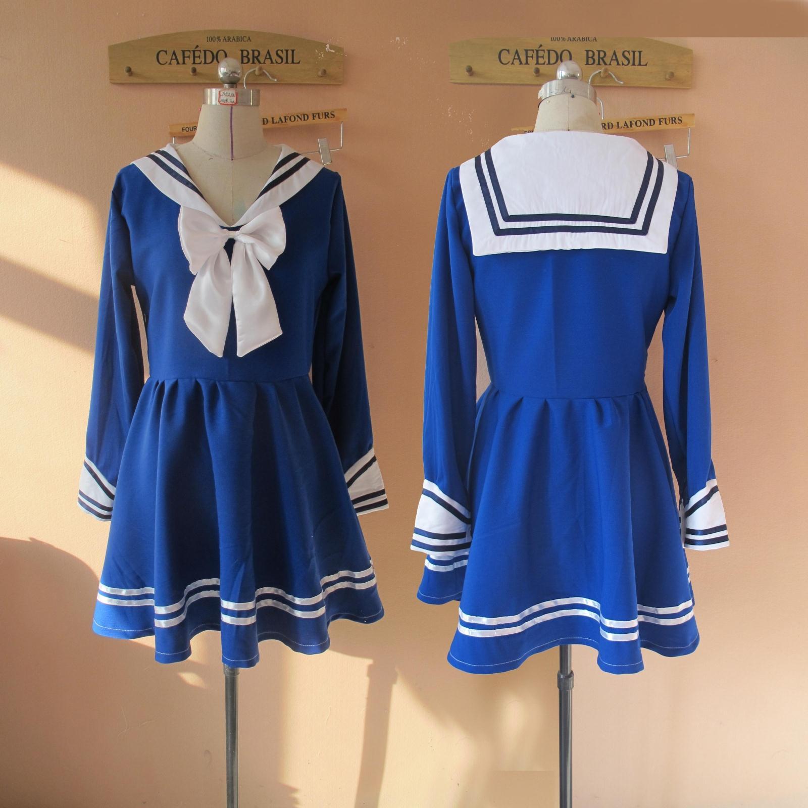 韩国女团apink/A PINK nonono同款打歌服啦啦操服装学生装水手服