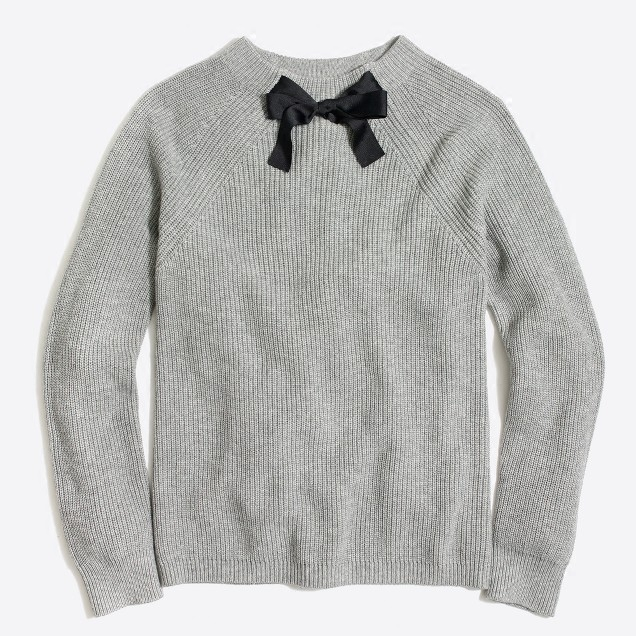 现货 美国 j***crew factory Bow-neck sweater蝴蝶结毛衣