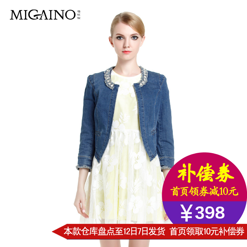 牛仔外套女 2015春秋韩版百搭修身显瘦长袖短款上衣牛仔短外套