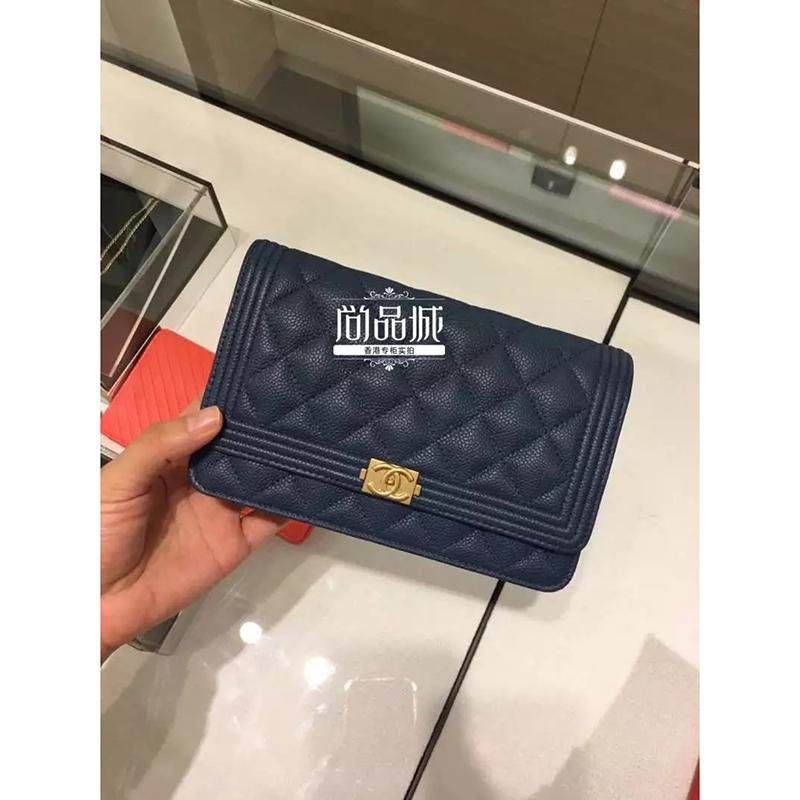 正品直邮Chanel 香奈儿2016新款 女包 真皮拉链时尚 手拿包
