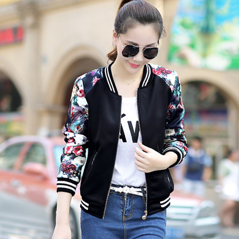 2015冬装新款民族风印花加厚短外套女式休闲夹棉棉衣卫衣夹克衫