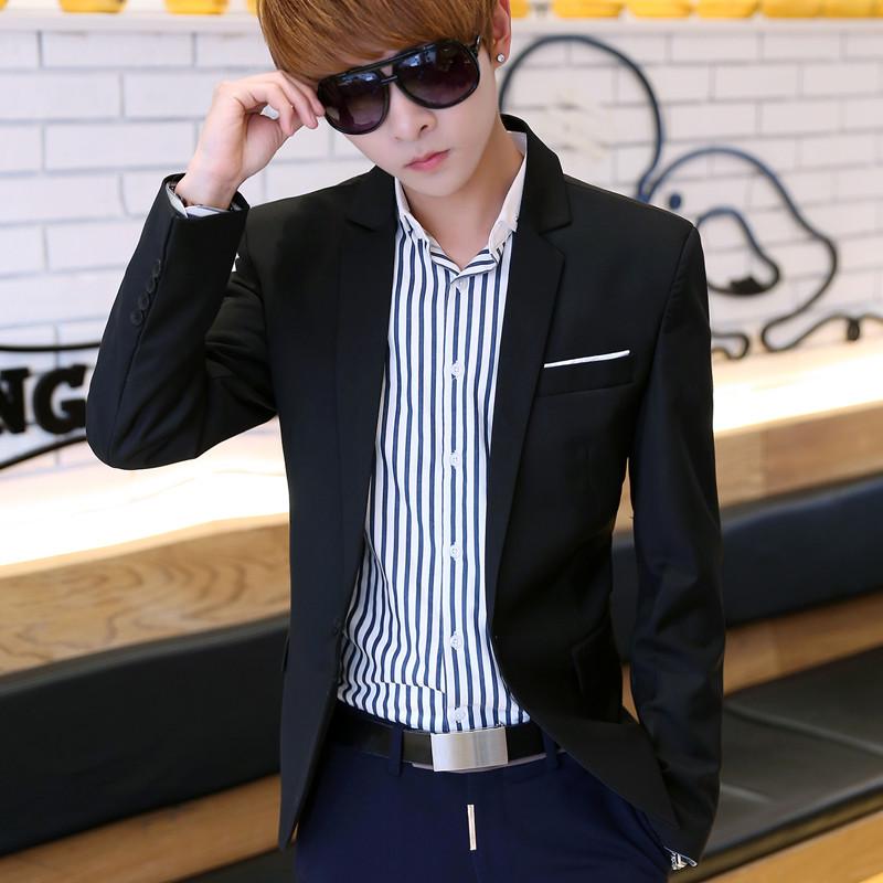 小西装男修身休闲薄款春季外套单件男士西服上衣青年韩版潮流帅气